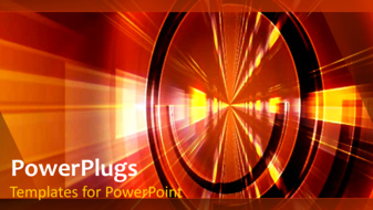 PowerPoint Template - An abstract technology network
